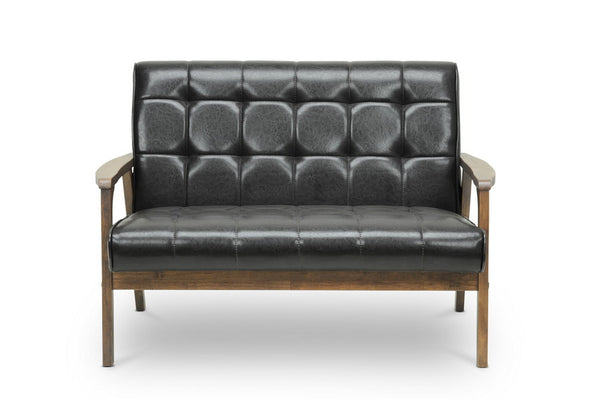 Dolly Mid Century Brown Loveseat - living-essentials