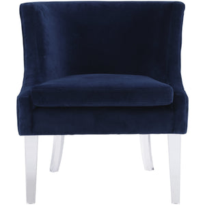 Mica Velvet Croc Accent Chair Blue Chairs Free Shipping