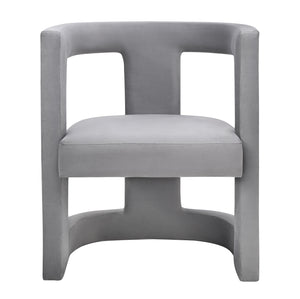 Abey Grey Velvet Chair Accent Chairs Free Shipping