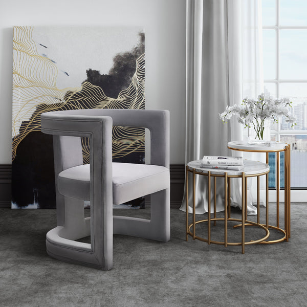 Abey Velvet Chair - living-essentials