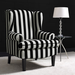 Old Montreal Velvet Wingback Chair - living-essentials