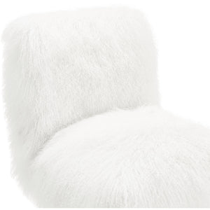 Sophie White Sheepskin Lucite Chair Accent Chairs Free Shipping