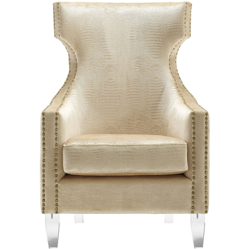 Grammer Gold Croc Velvet Wing Chair - living-essentials