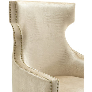 Grammer Gold Croc Velvet Wing Chair Accent Chairs Free Shipping