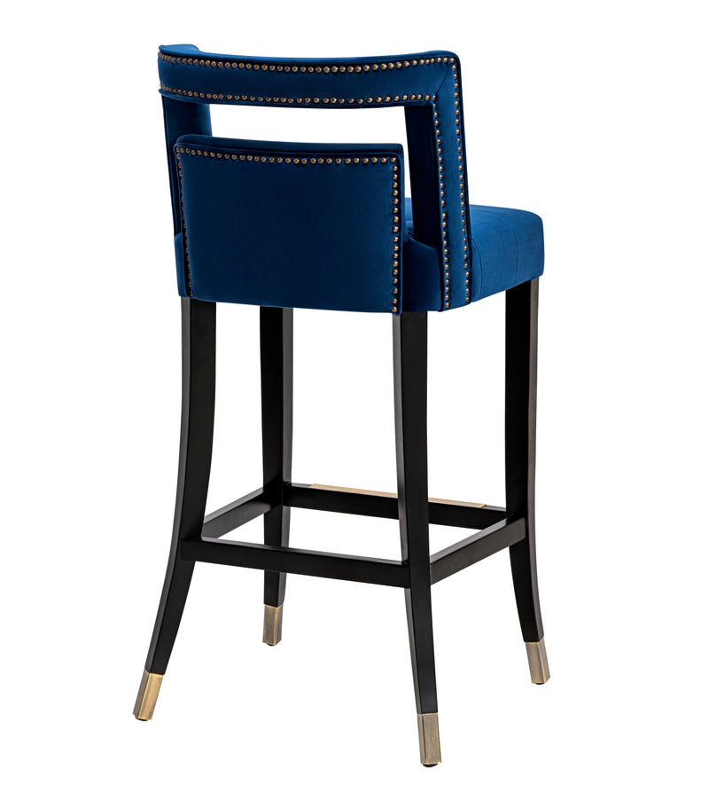 Hale Navy Velvet Counter Stool - living-essentials