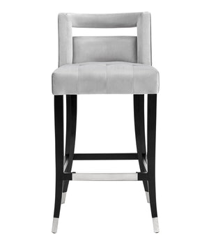 Hale Grey Velvet Counter Stool Free Shipping