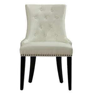 Chic Cream Leather Dining Chair Chairs Free Shipping