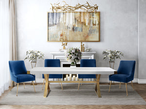 Becca Velvet Dining Chair - living-essentials