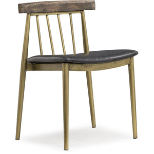 Allard Industrial Pine Dining Chair Set Of 2 Chairs Free Shipping