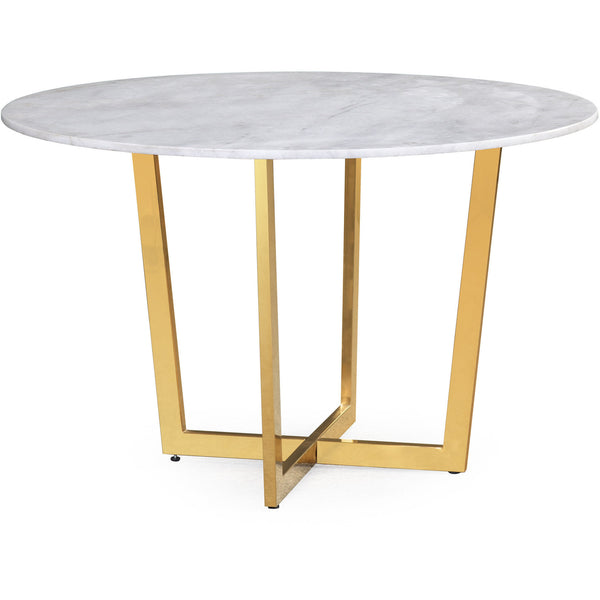 Maxine White Marble Dining Table - living-essentials