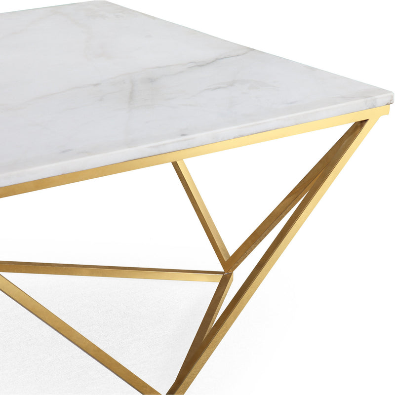 Harold White Marble CoffeeTable - living-essentials