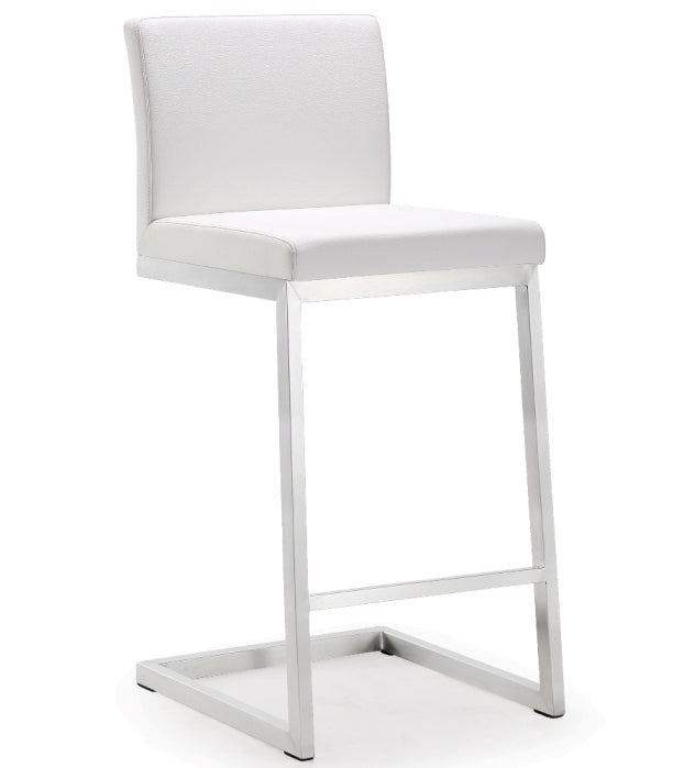 Parri White Steel Counter Stool (Set of 2) - living-essentials