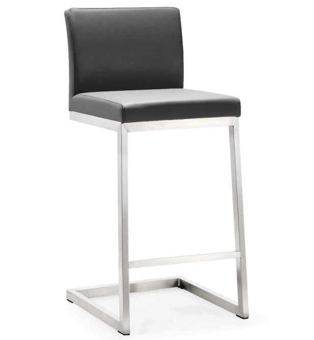 Parri Grey Steel Counter Stool (Set of 2) - living-essentials