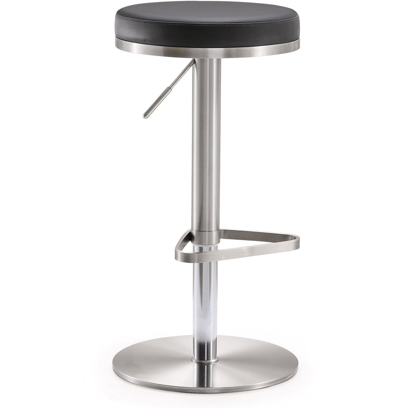 Farah Black Stainless Steel Barstool - living-essentials