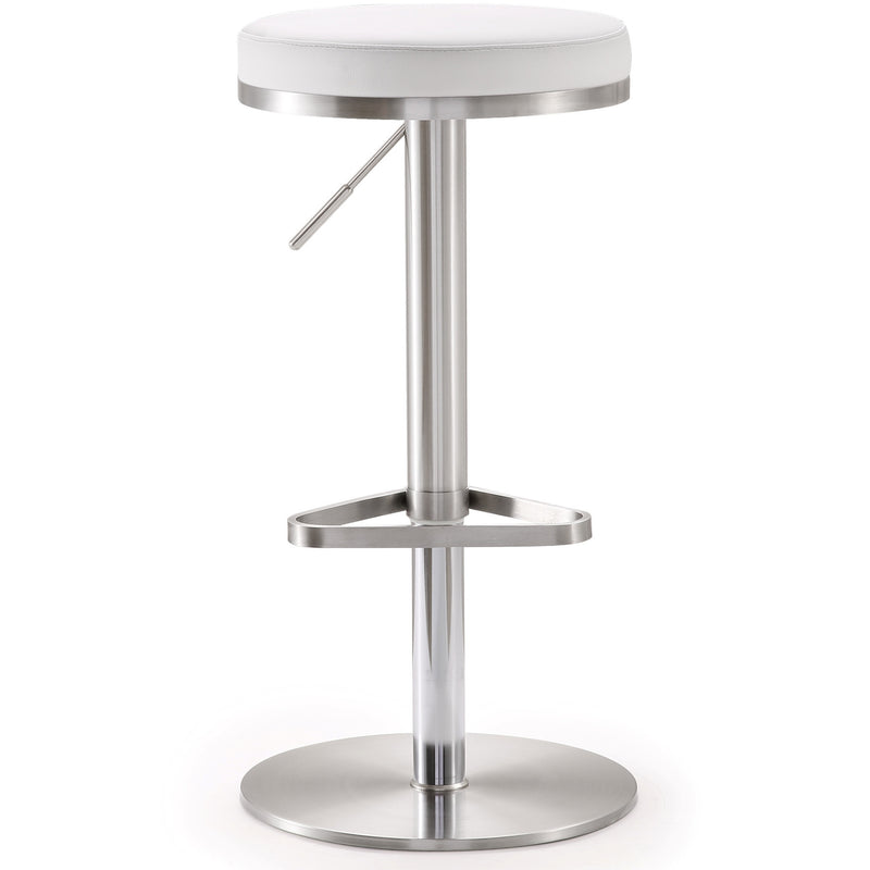 Farah White Stainless Steel Barstool - living-essentials