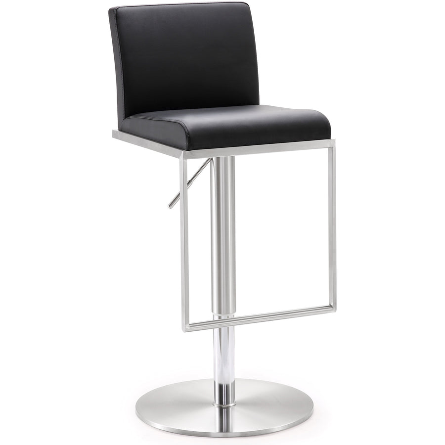 Amarie Black Stainless Steel Barstool Bar Stools Free Shipping