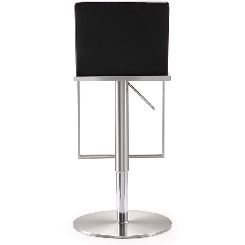Amarie Black Stainless Steel Barstool - living-essentials