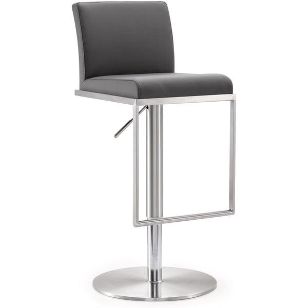Amarie Grey Stainless Steel Barstool - living-essentials