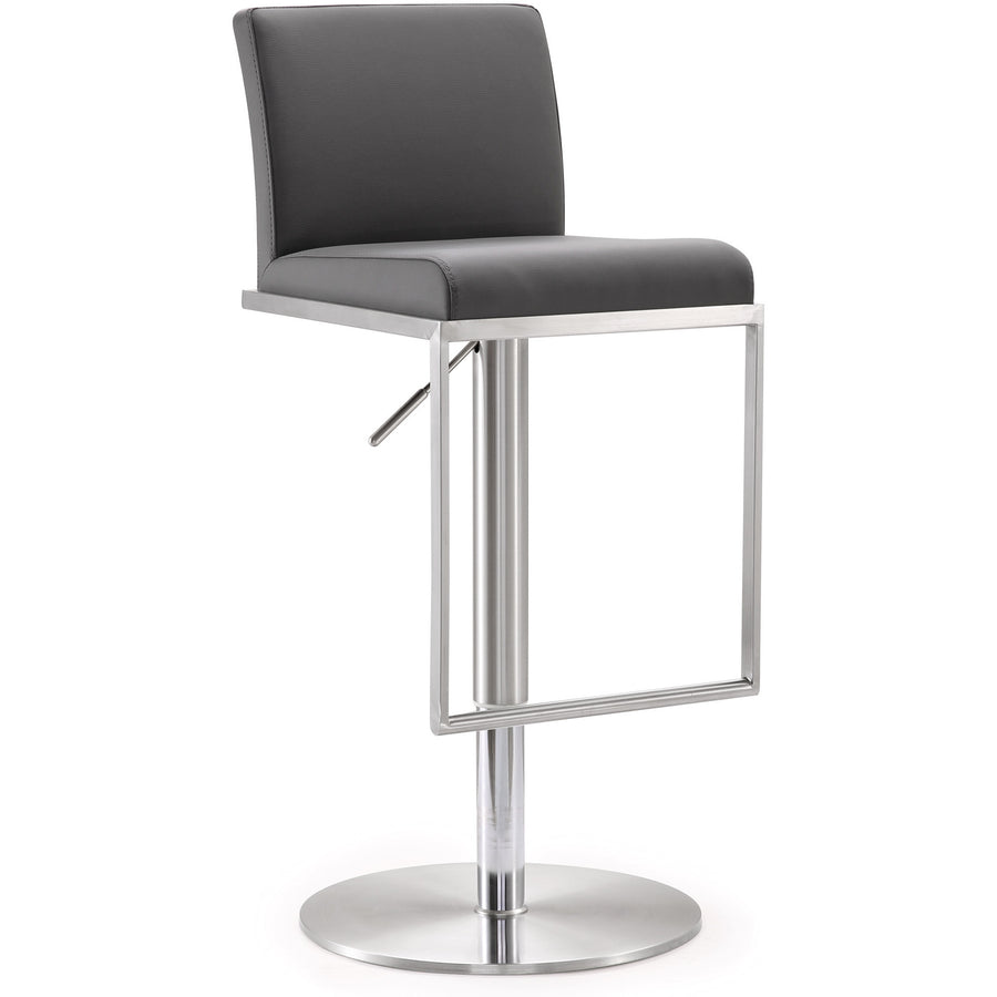Amarie Grey Stainless Steel Barstool Bar Stools Free Shipping