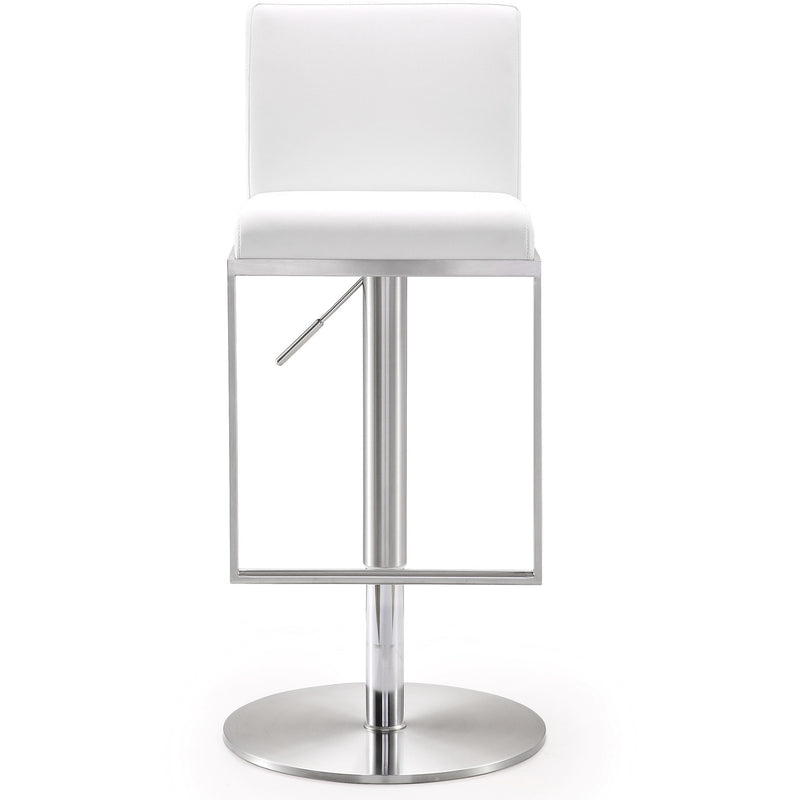 Amarie White Stainless Steel Barstool - living-essentials