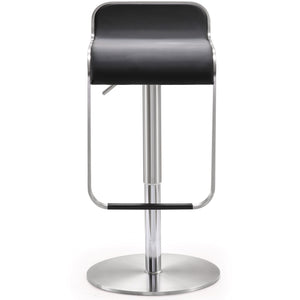 Turin Black Stainless Steel Barstool Bar Stools Free Shipping