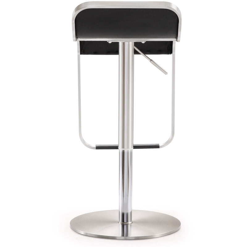Turin Black Stainless Steel Barstool - living-essentials