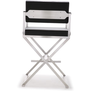 Director Black Stainless Steel Counter Stool Bar Stools Free Shipping