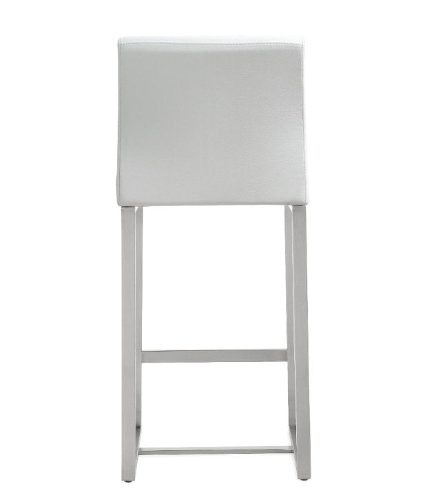 Deangelo White Steel Counterstool (Set of 2) - living-essentials
