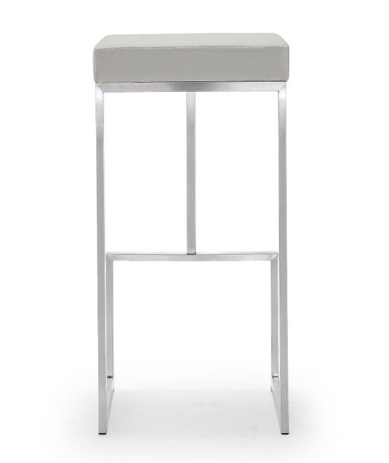 Ferras Light Grey Steel Barstool (Set of 2) - living-essentials