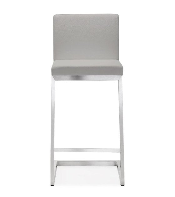 Parri Light Grey Steel Counter Stool (Set of 2) - living-essentials