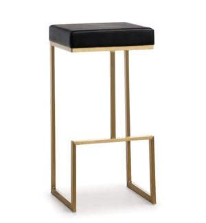 Ferras Black Gold Steel Barstool (Set Of 2) Bar Stools Free Shipping