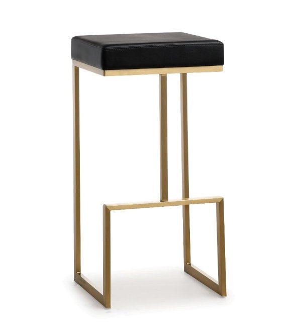 Ferras Black Gold Steel Barstool  (Set of 2) - living-essentials