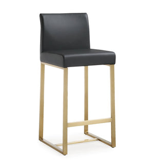 Deangelo Black Gold Steel Counter Stool (Set Of 2) Bar Stools Free Shipping