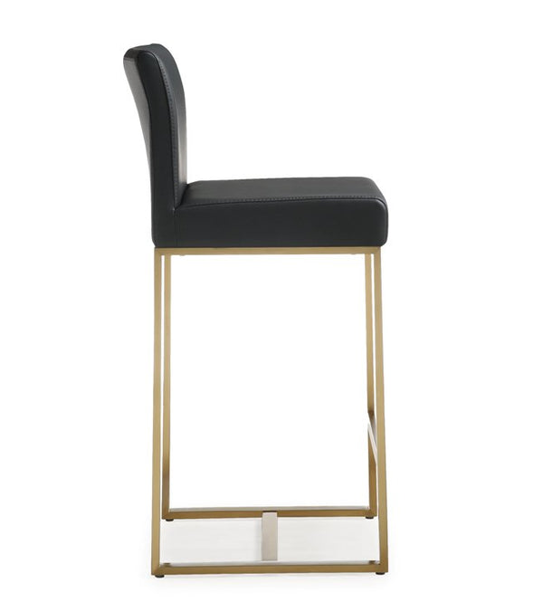 Deangelo Black Gold Steel Counter Stool (Set of 2) - living-essentials