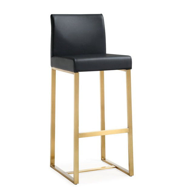 Deangelo Black Gold Steel Barstool (Set of 2) - living-essentials