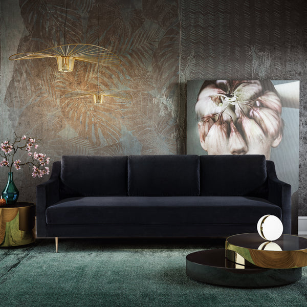 Milena Velvet Sofa - living-essentials