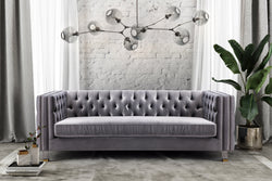 Ridley Velvet Sofa - living-essentials