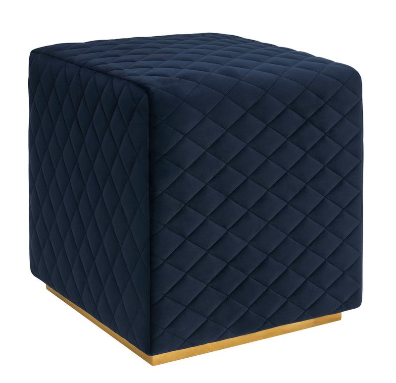 Clark Velvet Ottoman - living-essentials