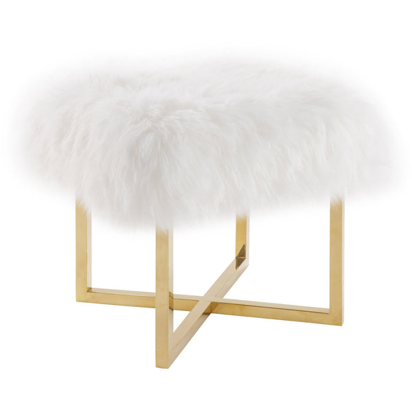 Carmelo Sheepskin Ottoman - living-essentials