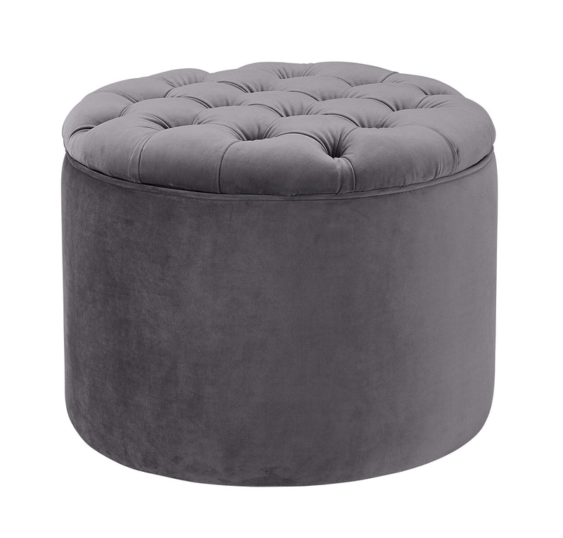 Queen Velvet Storage Ottoman - living-essentials