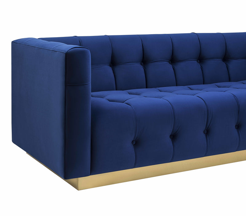 Rois Velvet Sofa - living-essentials