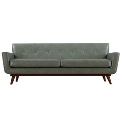 Queen Mary Dark Grey Leather Sofa - living-essentials