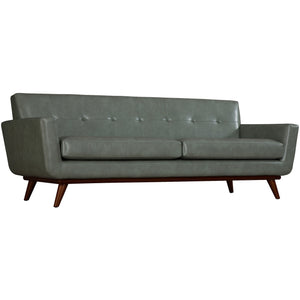 Queen Mary Dark Grey Leather Sofa Free Shipping