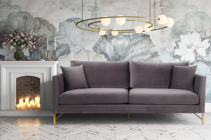 Malinda Velvet Sofa - living-essentials