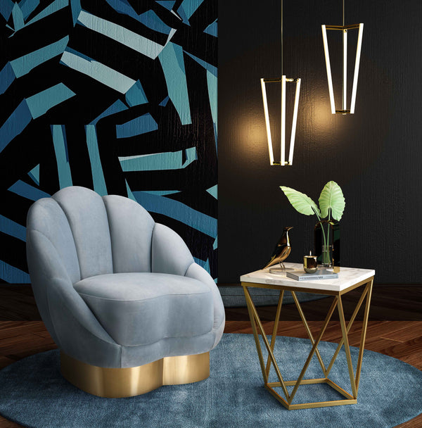 Blaise Velvet Chair - living-essentials
