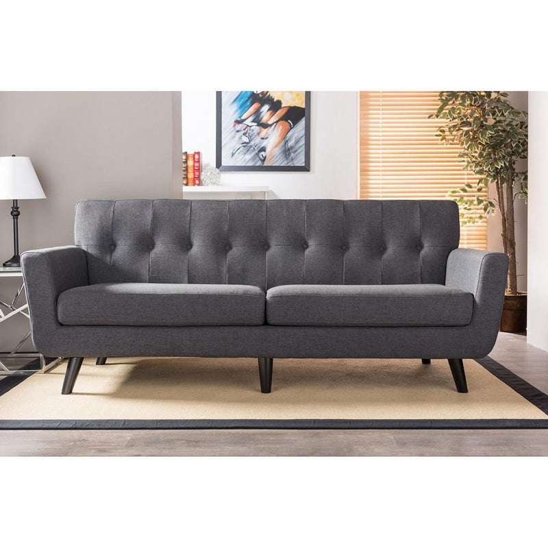 Roxanne Mid Century Fabric Sofa - living-essentials