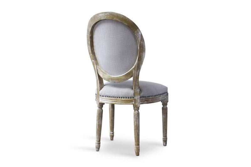 Caine Traditional Round French Accent Chair - living-essentials