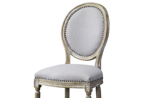 Caine Traditional Round French Accent Chair Chairs Free Shipping