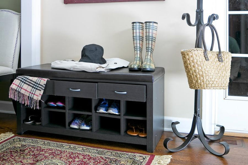 Corbyn Espresso Entryway Bench - living-essentials