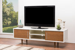 Gennie Mid Century Modern Wood TV Stand - living-essentials